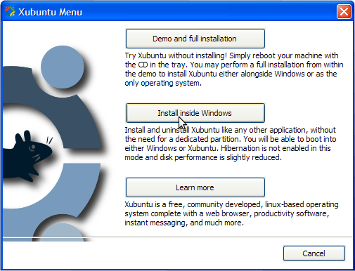 As You Can See, There Are Three Choices, The First One: Demo And Full  Installation Will Allow You To Try Xubuntu First Without Installing It.